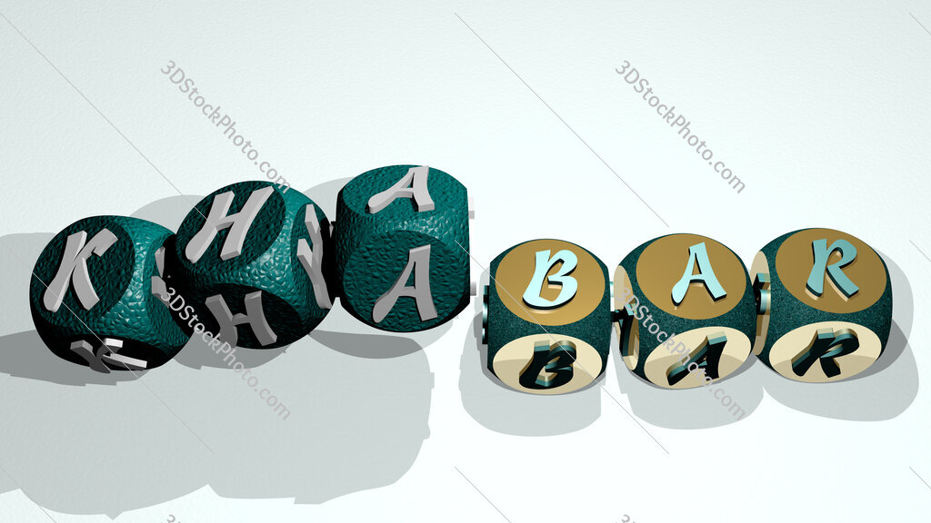 khabar text by dancing dice letters