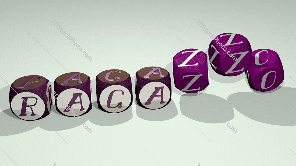 ragazzo text by dancing dice letters