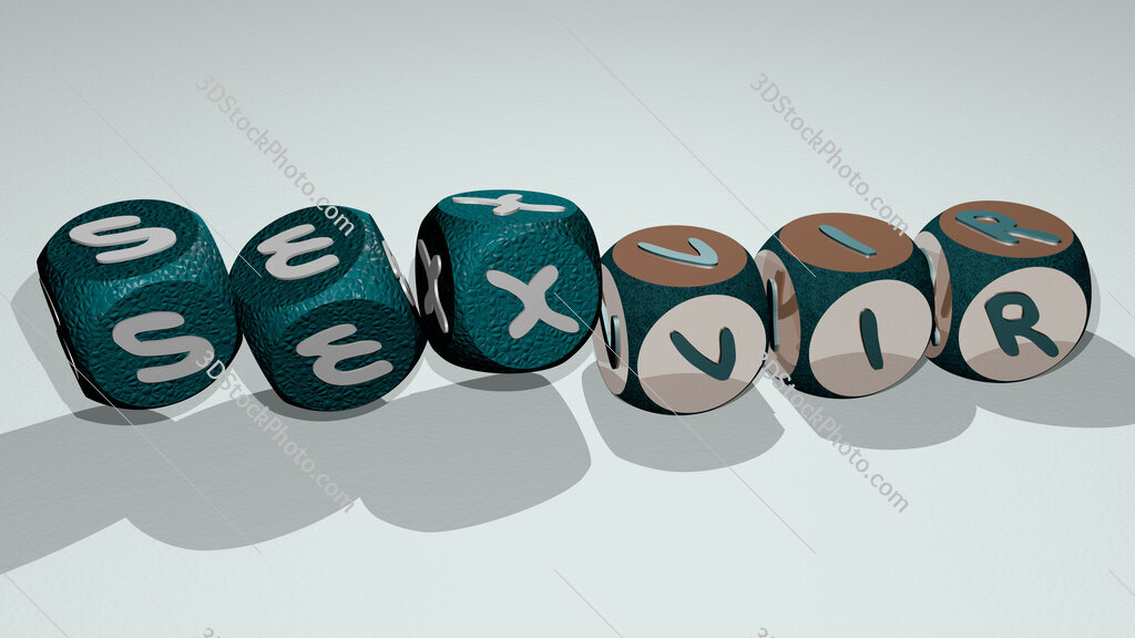 sexvir text by dancing dice letters