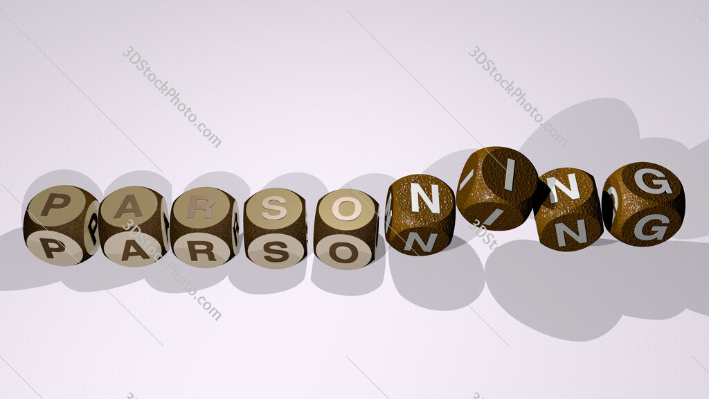 parsoning text by dancing dice letters