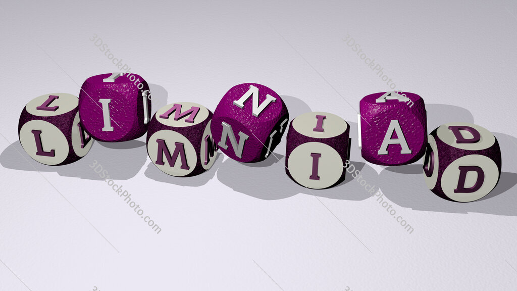 limniad text by dancing dice letters