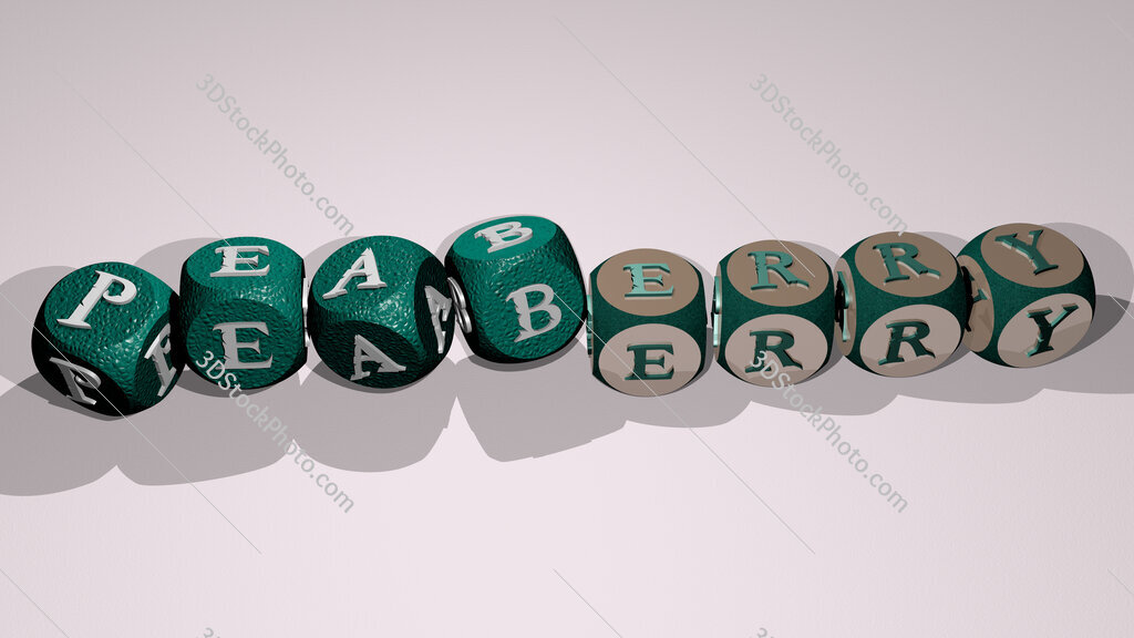 peaberry text by dancing dice letters