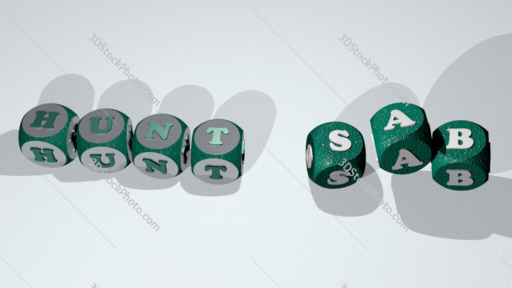 hunt sab text by dancing dice letters