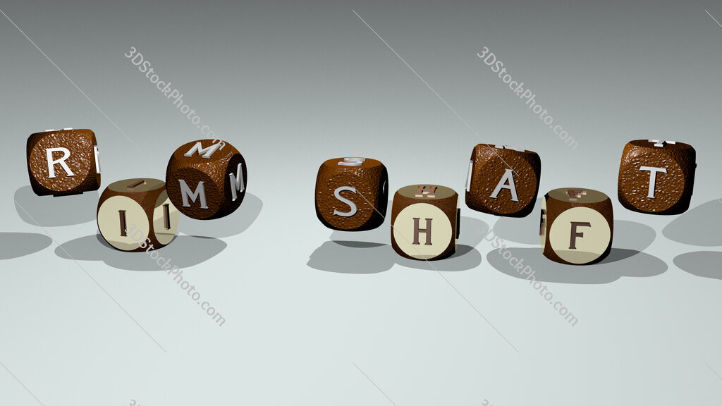 rim shaft text by dancing dice letters