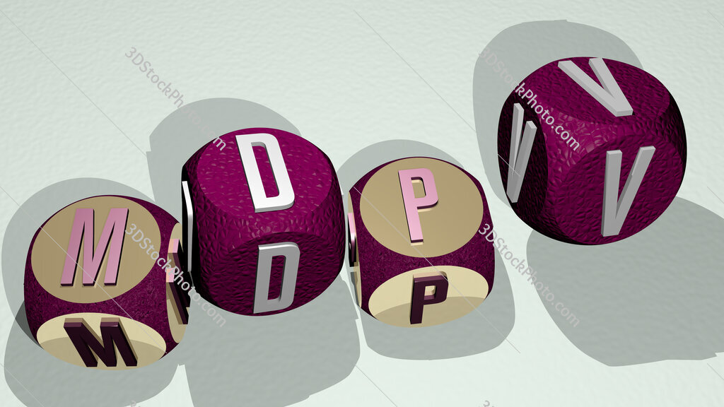 MDPV text by dancing dice letters