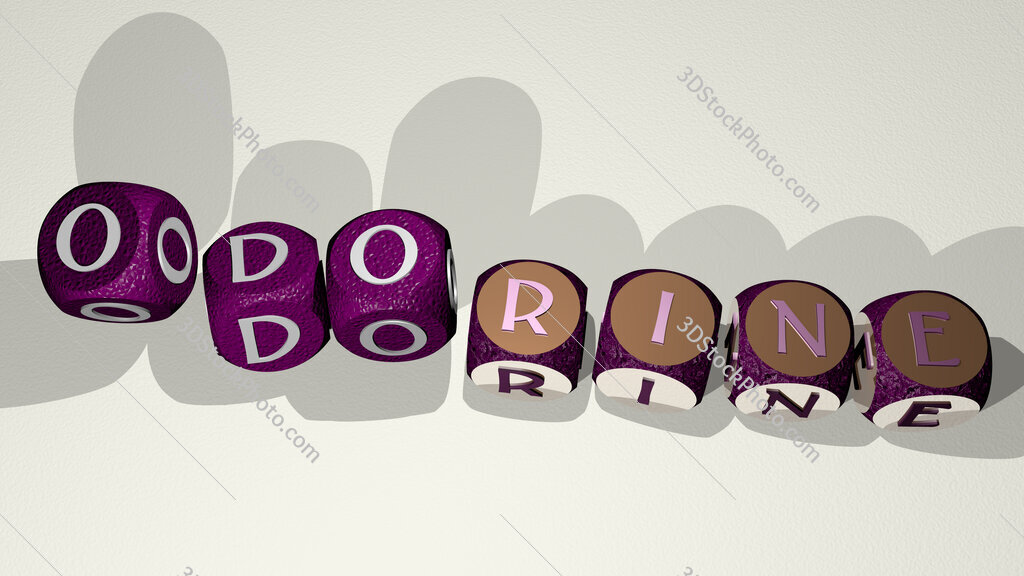 odorine text by dancing dice letters