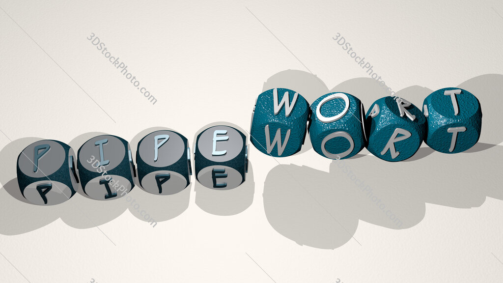 pipewort text by dancing dice letters