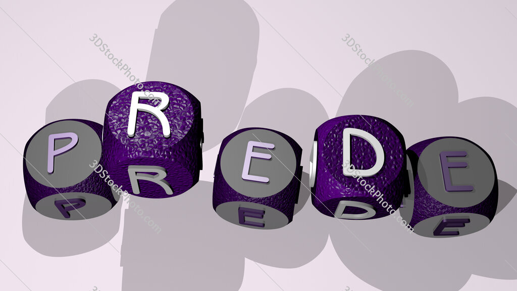 prede text by dancing dice letters