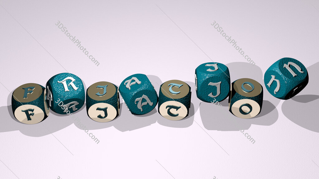 friation text by dancing dice letters