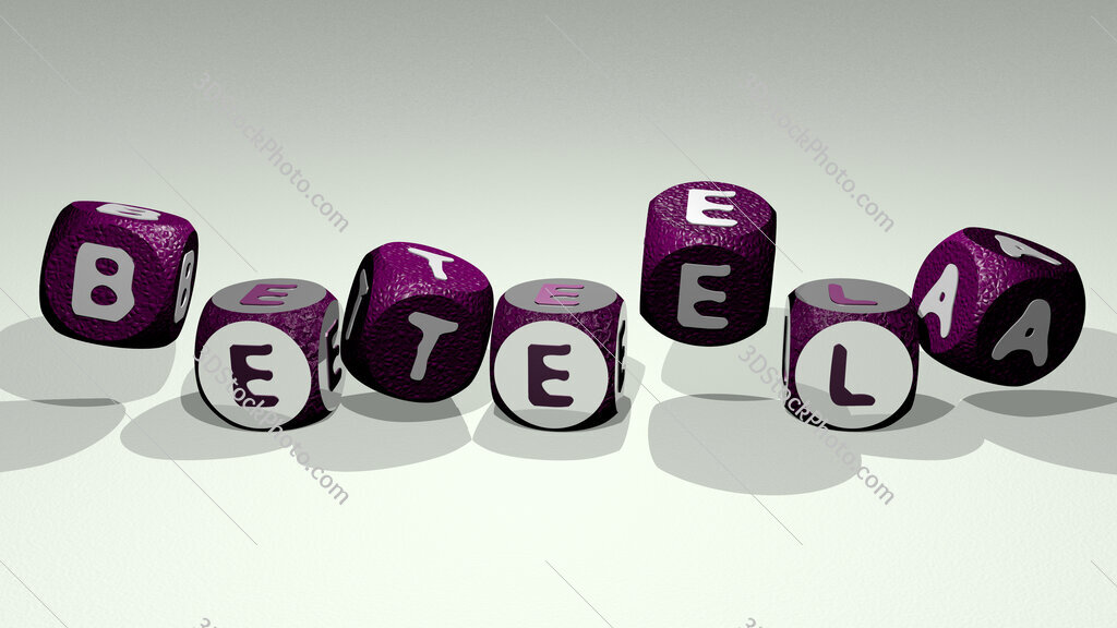 beteela text by dancing dice letters