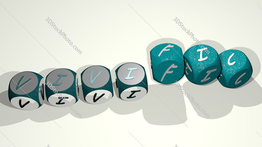 vivific text by dancing dice letters