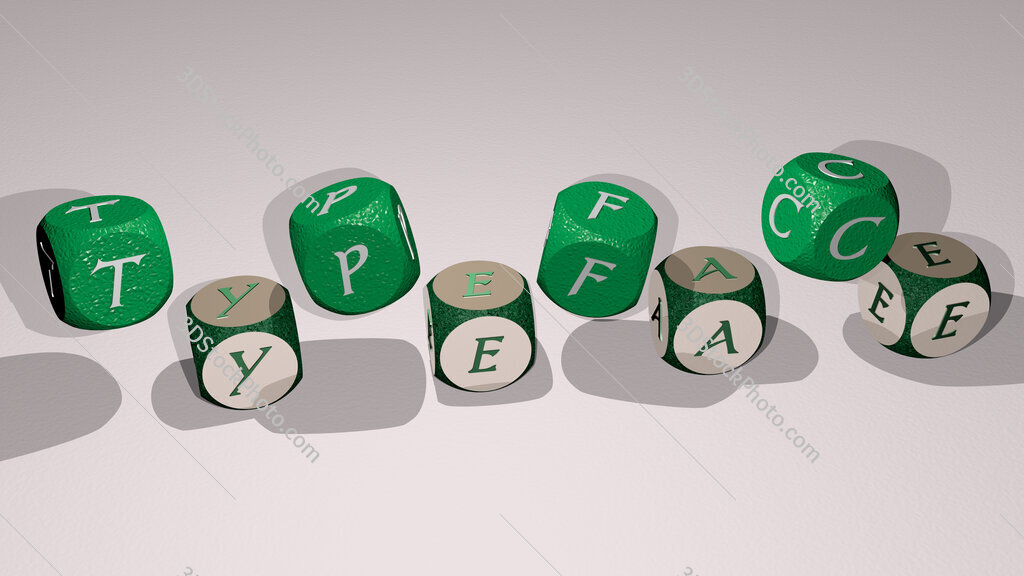 typeface text by dancing dice letters