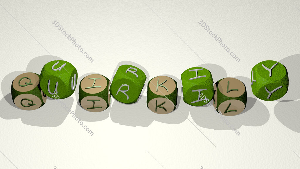 quirkily text by dancing dice letters