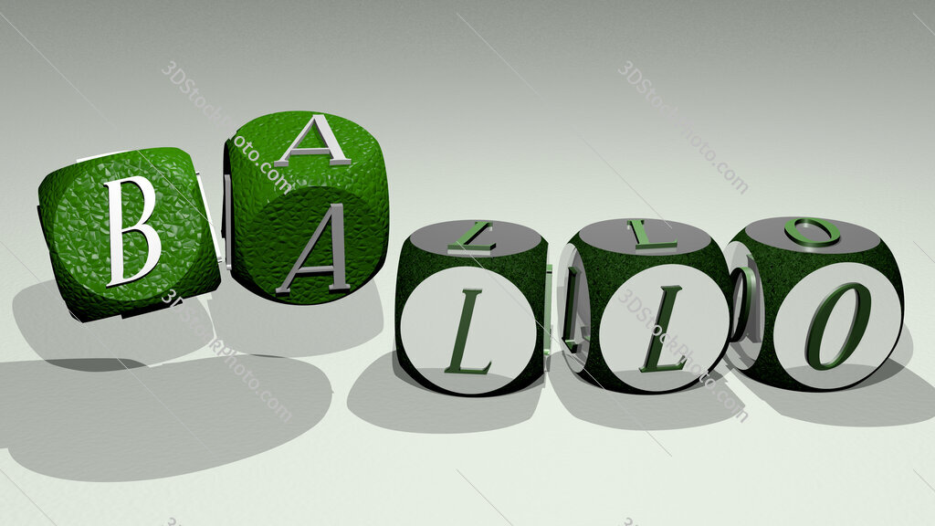 ballo text by dancing dice letters
