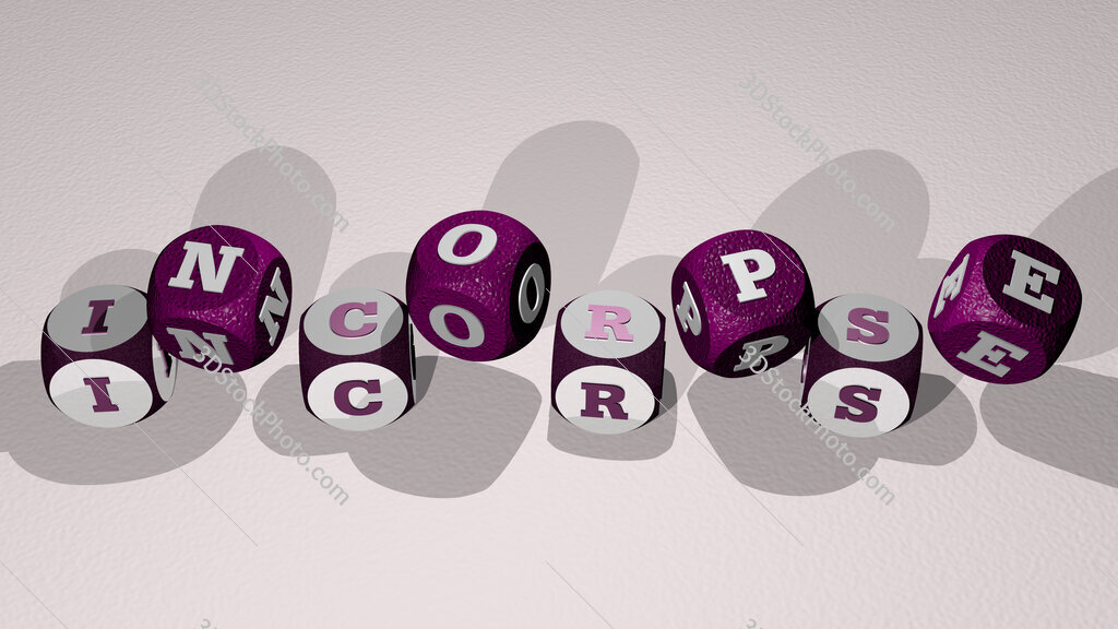 incorpse text by dancing dice letters