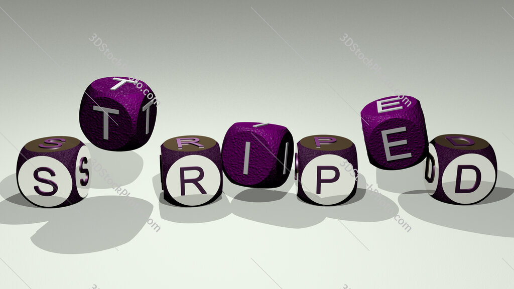 striped text by dancing dice letters