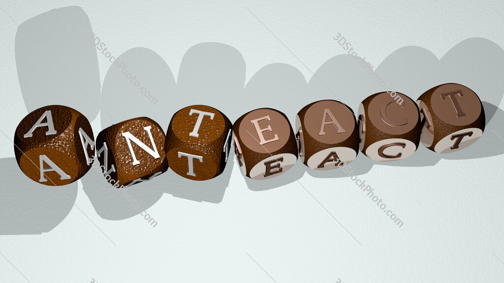 anteact text by dancing dice letters
