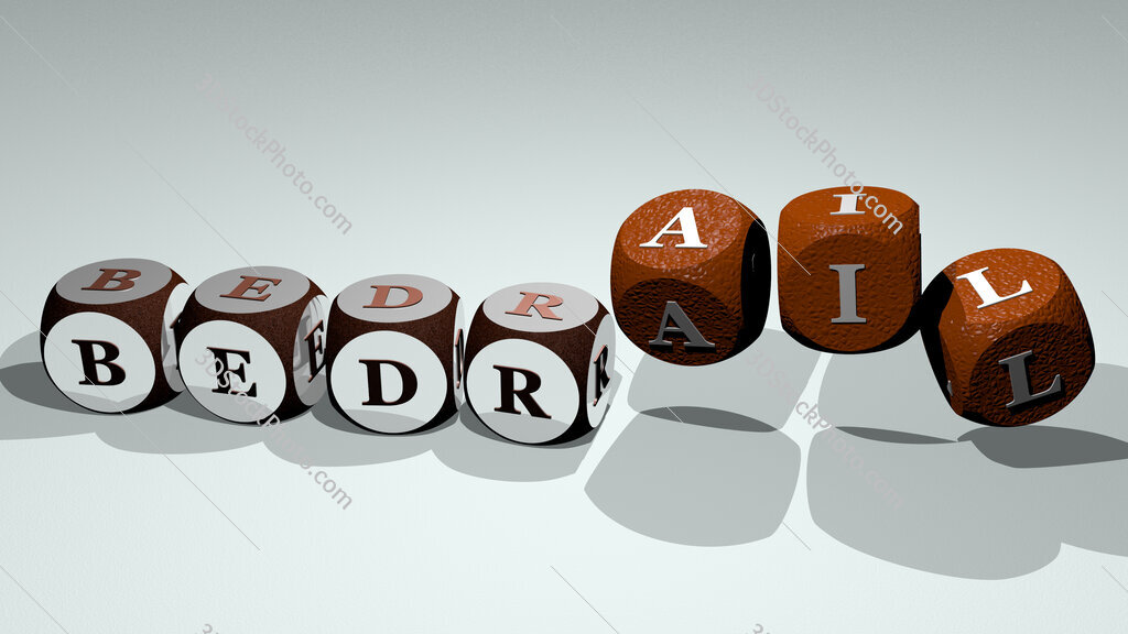 bedrail text by dancing dice letters