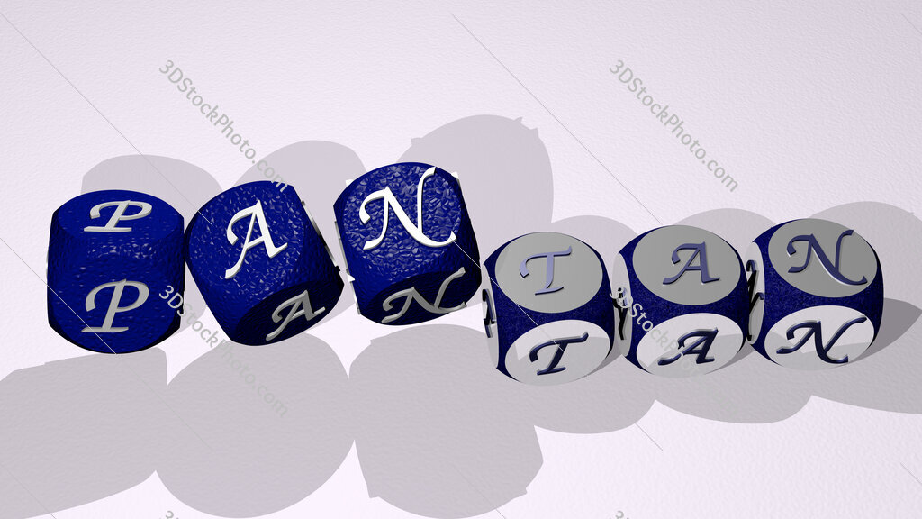 pantan text by dancing dice letters