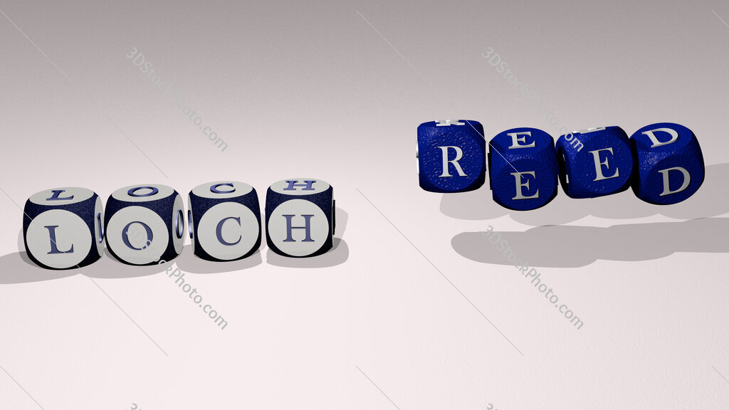 loch reed text by dancing dice letters