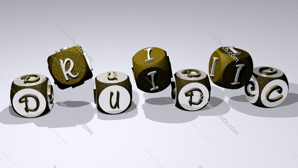 druidic text by dancing dice letters