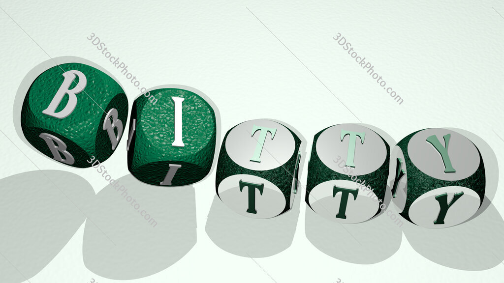 bitty text by dancing dice letters