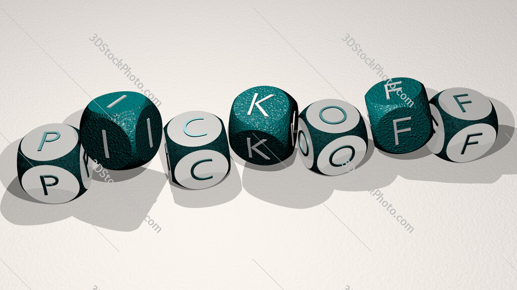 pickoff text by dancing dice letters