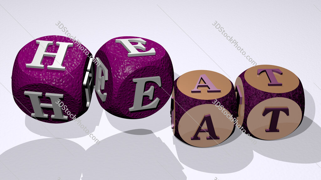 heat text by dancing dice letters