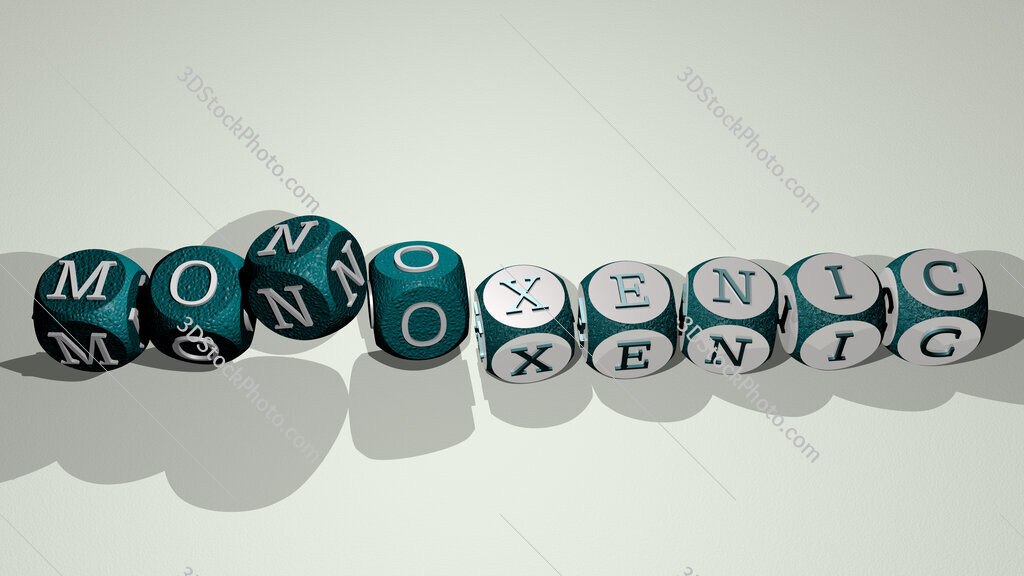 monoxenic text by dancing dice letters