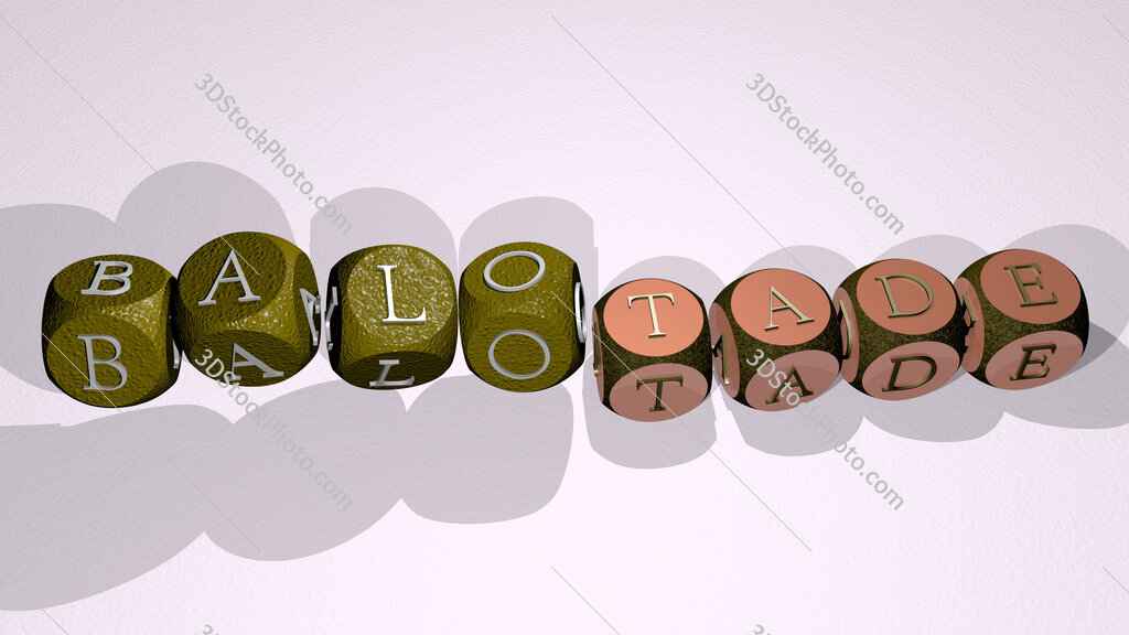 balotade text by dancing dice letters