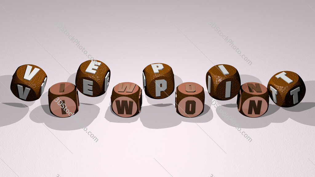 viewpoint text by dancing dice letters
