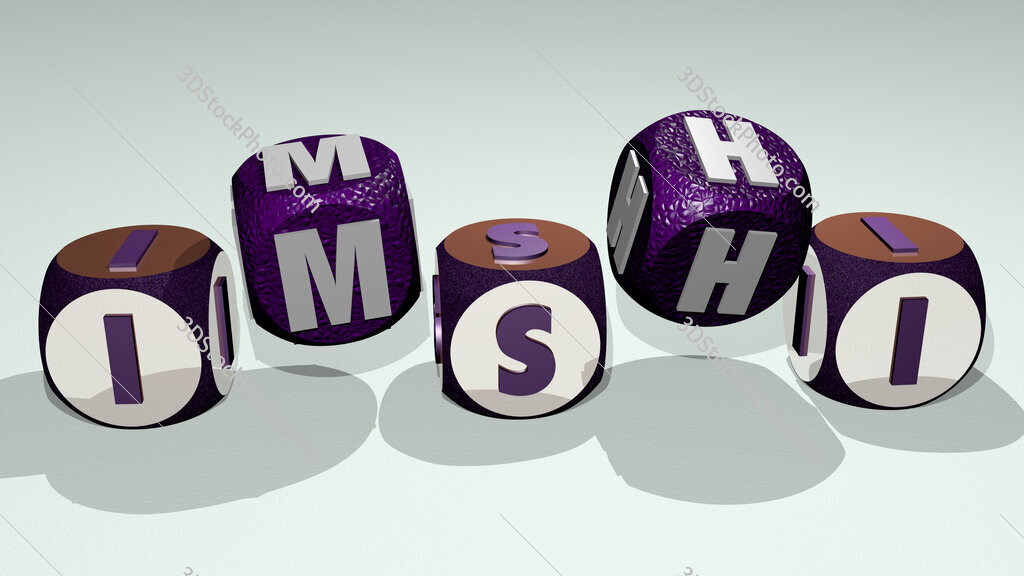 imshi text by dancing dice letters