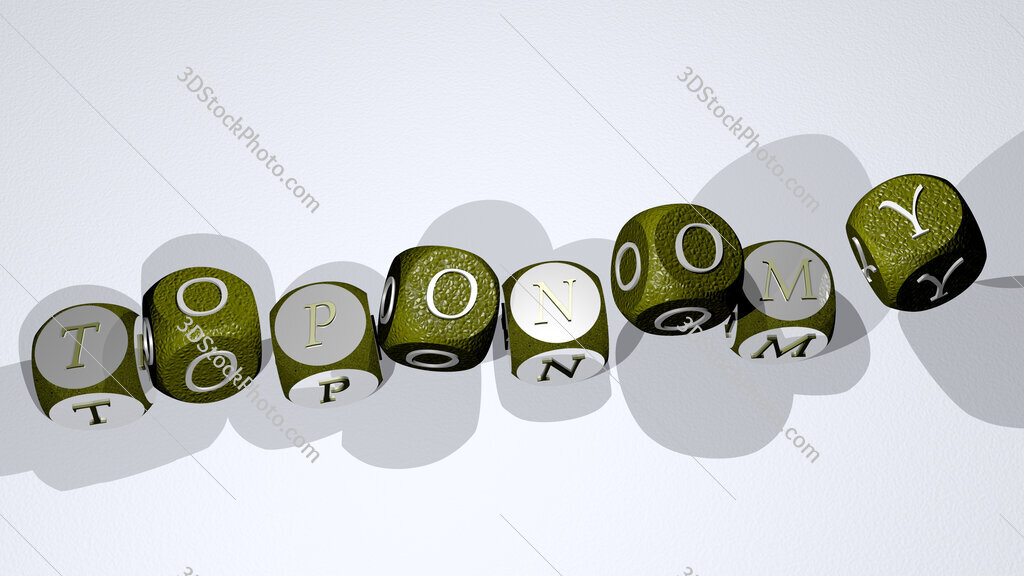 toponomy text by dancing dice letters