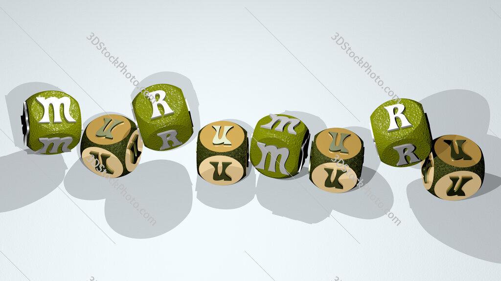 murumuru text by dancing dice letters
