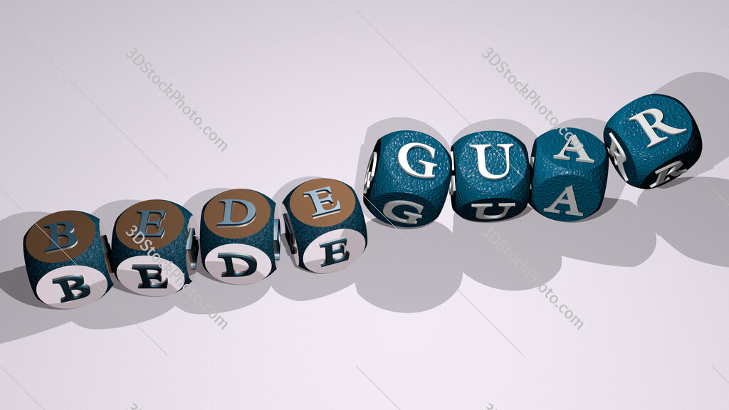 bedeguar text by dancing dice letters