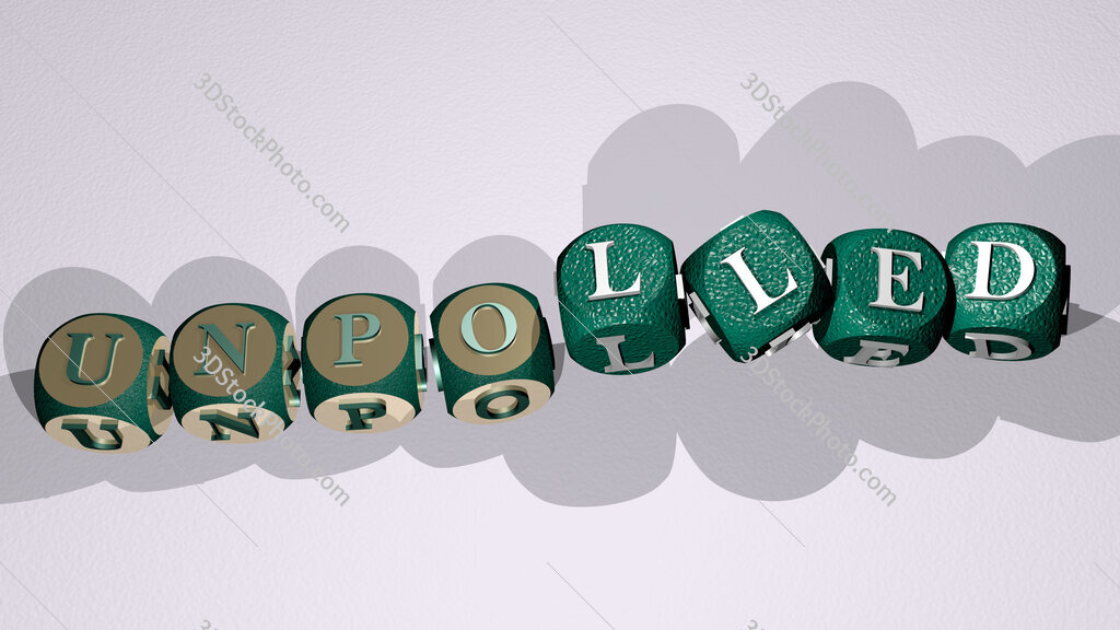unpolled text by dancing dice letters