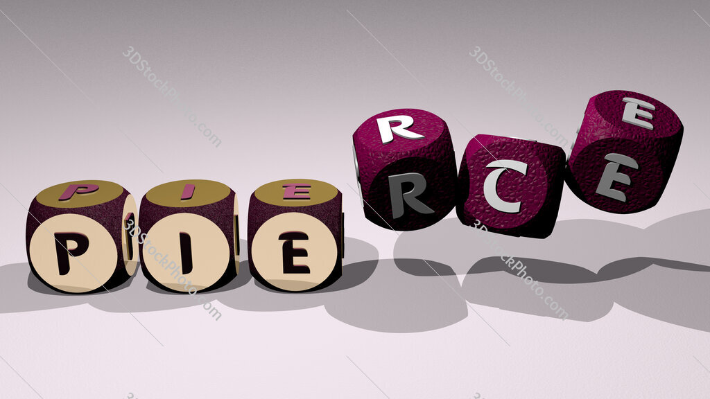 pierce text by dancing dice letters