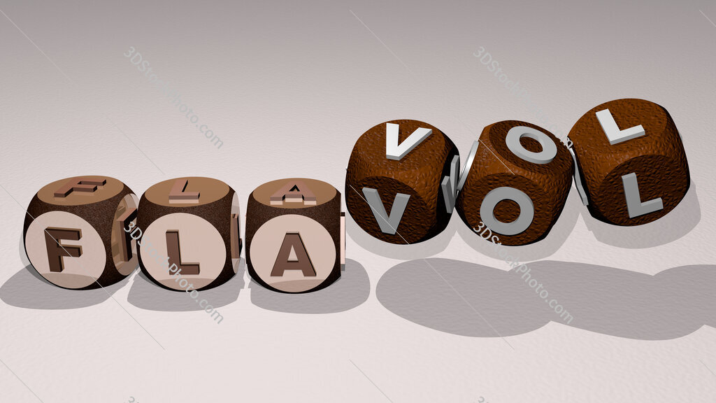 flavol text by dancing dice letters