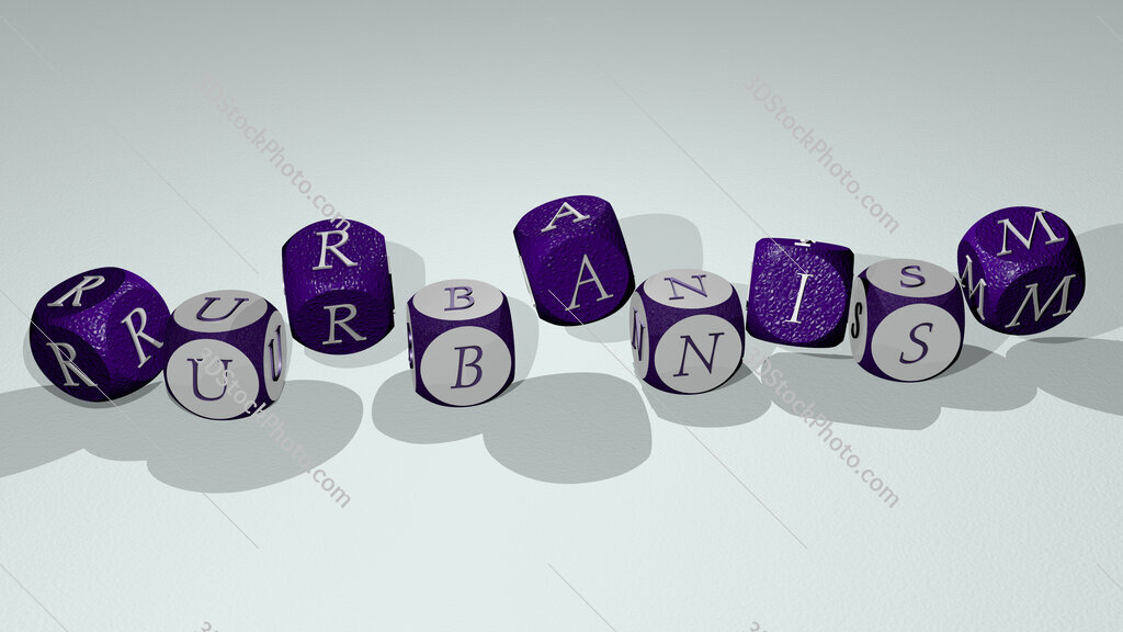 rurbanism text by dancing dice letters