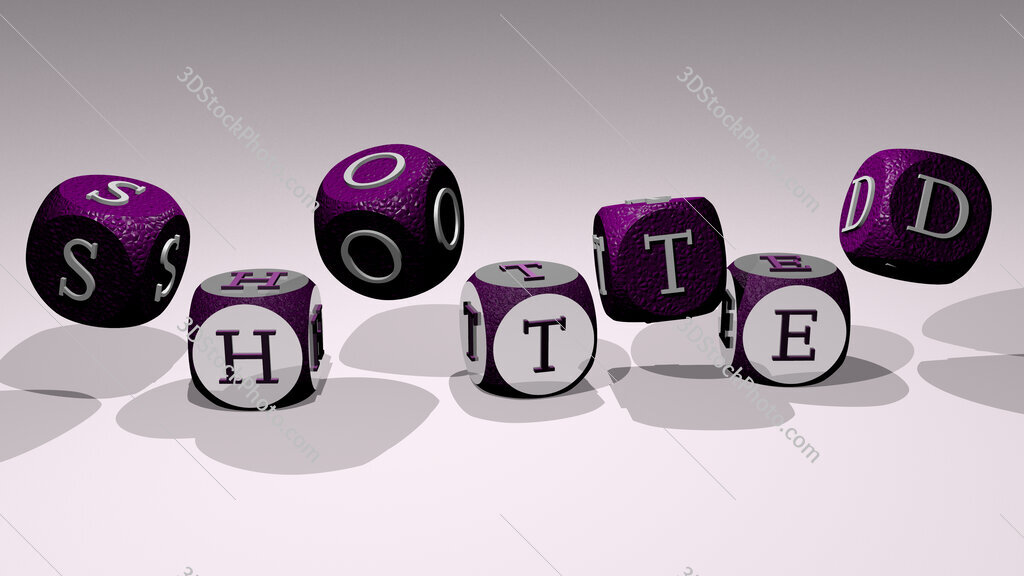 shotted text by dancing dice letters