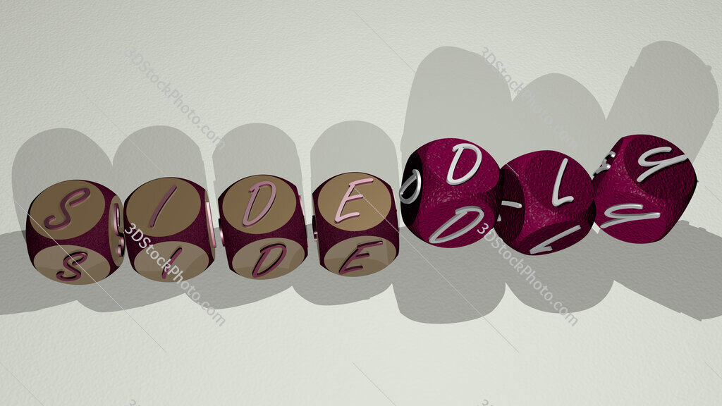 sidedly text by dancing dice letters