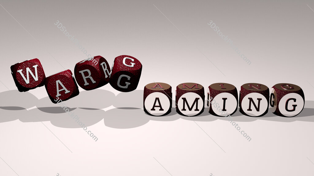 Wargaming text by dancing dice letters
