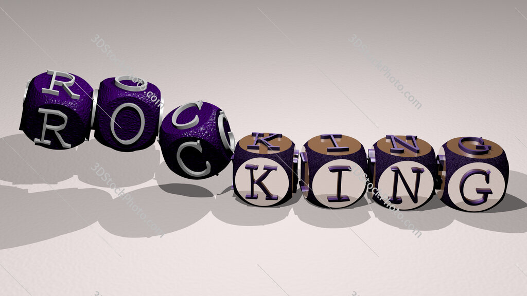 rocking text by dancing dice letters