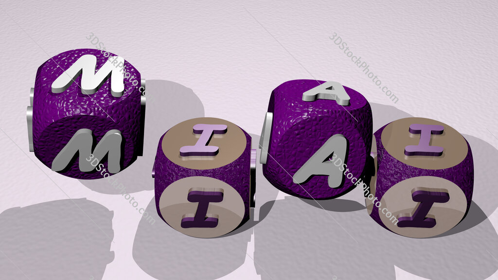 miai text by dancing dice letters