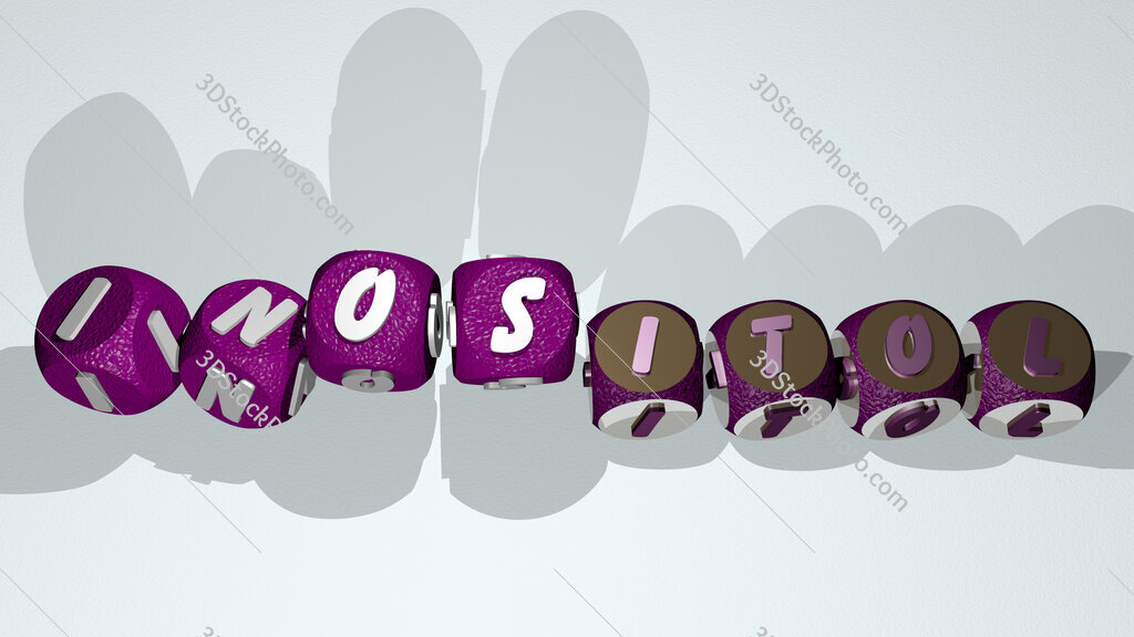inositol text by dancing dice letters
