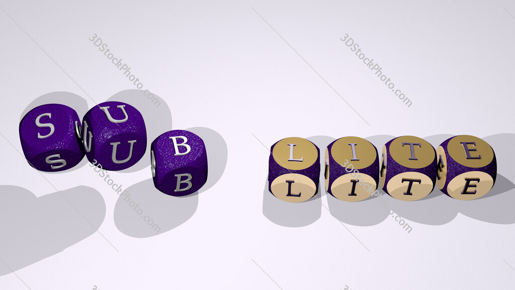 sub lite text by dancing dice letters