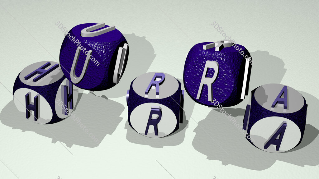 hurra text by dancing dice letters