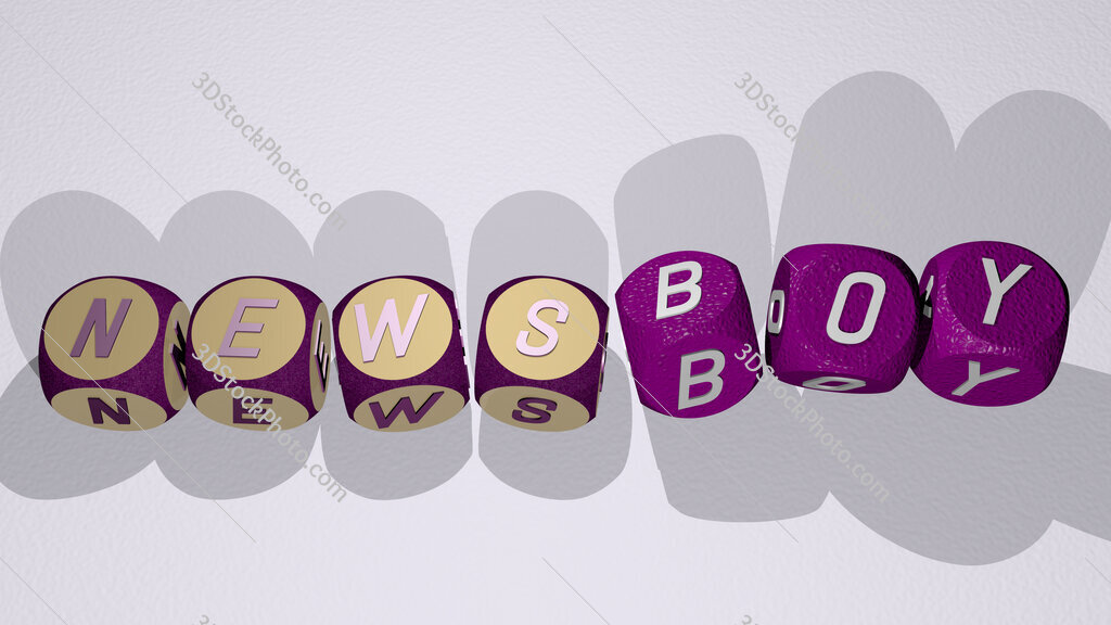 newsboy text by dancing dice letters