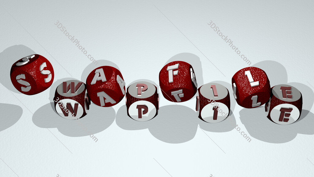 swapfile text by dancing dice letters