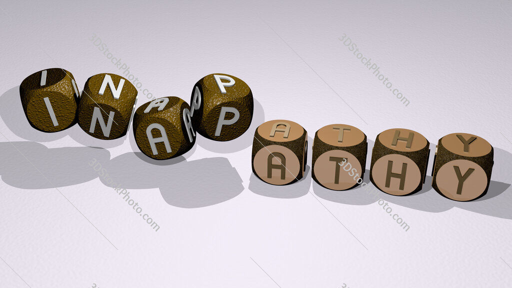 inapathy text by dancing dice letters